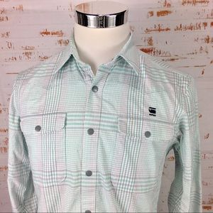 G Star Raw Snap Button Up m